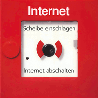 Scheibe einschlagen, Internet abschalten